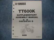 YAMAHA 1983 TT600K SUPPLEMENTARY ASSEMBLY MANUAL TT600 K TT 600 K 83