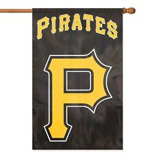 "MLB Pittsburgh Pirates 44"" x 28"" Applique and Embroidered 2-Sided Banner/Flag"