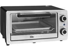 Elite Eto-9323Ss Black Toaster Oven 4-Slice Stainless Steel Broiler, Black