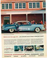 1956 Dodge Lancer Custom Royal Convertible 2-tone Blue 4-door Sedan Vtg Print Ad