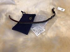 Tory Burch Double Wrap Crystal Embellished Bracelet Imperial Garnet Hematite$128
