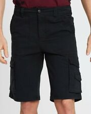 Mossimo Riverview Black Cargo Slim Fit Stretch Walk Shorts  Size : 40