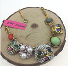 Charm Betsey Johnson rhinestone jewelry pearl pendant cat lady sweater necklaces
