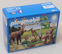 PRL) PLAYMOBIL 6817 DEER FAMILY COUNTRY GIOCATTOLO TOY JOUET COLLECTION GIFT NEW