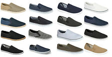 Mens Boys Slip On Canvas Espadrilles Pumps Plimsolls Beach Holiday Shoes  Size