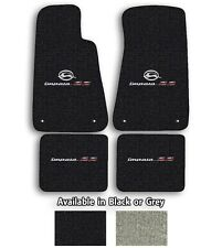 Official GM Licensed Impala SS Logo Cutpile Carpet Floor Mats - Choose Mat Color