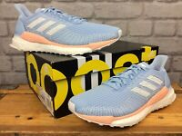 ADIDAS LADIES UK 7 1/2 EU 41 1/3 OG SOLAR BOOST BLUE PINK TRAINERS RRP £139 LG