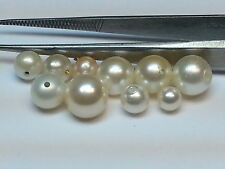 PEARLS!! PACKAGE OF 10 ASSORTED USED PEARLS!!  4 to 7 MM PEARLS!