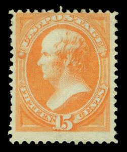 US 1873  Daniel Webster  15c yellow orange  Scott # 163 ( Yvert # 46) mint NG