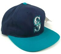 Vintage Seattle Mariners Youth Size Outdoor Cap Co Snapback Hat Blue Black Green