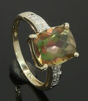 9 Carat Yellow Gold Mystic Topaz Ring Size P (80.17.704)
