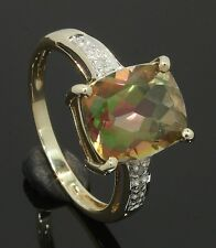 9 Carat Yellow Gold Mystic Topaz Ring Size P 9CT (80.17.704)