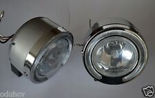 2 Unique Front Bumper Lights with Angel Eye Rings for Car Offroad Truck SUV 4x4
