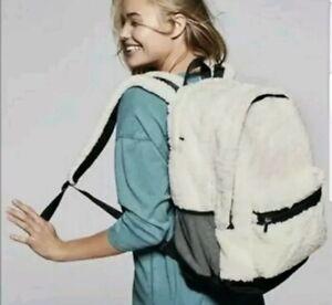 Victorias Secret PINK Sherpa Campus Backpack Full Size Zipper