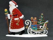 """ARTIST WILHELM SCHWEIZER GERMAN ZINNFIGUREN Santa Pulling Sled (4.5""""x 3.5"""")"""