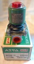 """ASCO RED HAT 8215C20 Solenoid Valve 1/2"""" pipe media air fuel gas serial#S92879"""