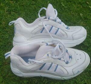 Adidas Ladies UK5 Vintage Retro White Trainers ART 049971