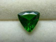 rare Top Green Tsavorite Garnet Gemstone gem Tsavo Kenya trillion cut 0.70ct
