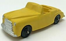 Vintage Irwin Rubber Toy Car Convertible Yellow Color