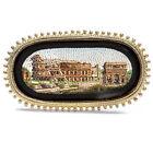 Antique Micro Mosaic Brooch: Colosseum Rome Um 1875 Grand Tour Rome
