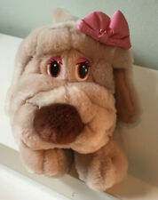 Miss Lubbable - Vintage Russ Plush Toy Puppy Dog Bloodhound w/Bow