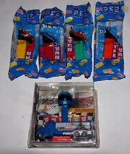 4x DISNEY PIXAR CARS (FILM) + RUSTY WALLACE NASCAR BOX PEZ LOT sealed