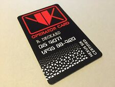 Blade Runner Rick Deckard VK Voight Kampff Film Movie Plastic Card Prop