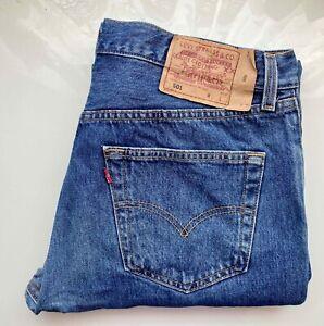 #Vintage# LEVI's Original Jeans Hose USA Denim 501 W34 L32 hellblau ausgewaschen