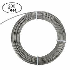 """New Cable Railing T304 Stainless Wire Rope Cable Strand, 1/8"""", 7x7, 200FT"""