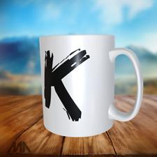 """ALPHABET LETTER -TEA/ COFFE MUGS - letter """"K"""" - perfect gift"""