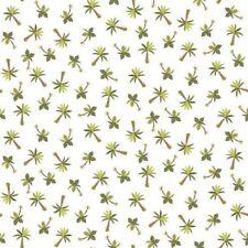 Makower Fabric - Rex - Palm Trees - White - 100% Cotton