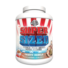 Merica Labz SUPER SIZED Lean Muscle Mass Weight Gainer Protein 5lb FRUITY REBELS
