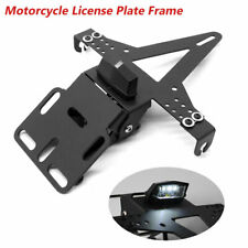 Fender Eliminator License Plate Holder Bracket LED Taillight For Motorcycle
