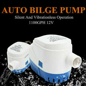 12V 1100GPH Bilgepumpe Lenzpumpe Bilgenpumpe Pumpe Automatische Mit Schalter DE