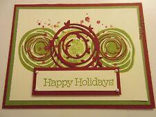 Happy Holidays Handmade Greeting Card Swirly Bird - using Stampin Up products