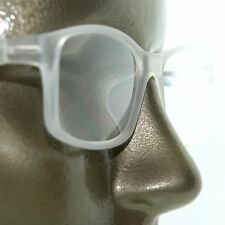 Reading Glasses Square Eyes Readers Bold Crystal White Frosted Frame +1.50 Lens