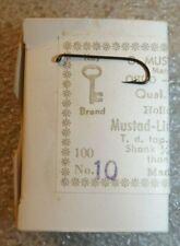 Mustad Fishing Hooks Box Of 100 Limerick Hollow Point #10 36680 E