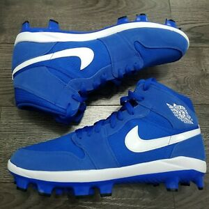 Nike Air Jordan 1 Retro MCS Molded Baseball Cleats Mens 9.5 Game Royal Blue