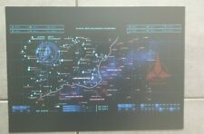 Star Trek klingon v federation battle map from discovery A3 poster