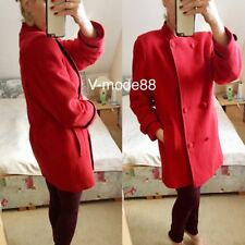 Luxus Blogger Wollmantel 38 M 40 Mantel 70% Wolle Kaschmir rot Woll Cashmere 🧥
