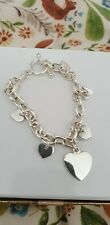 Silver Colour Women Girl Bracelet With Hearts