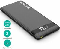 Hokonui Portable Charger Power Bank, 20000mAh External Battery Packs Quick QC3.0
