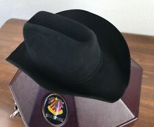 Stetson 4X Beaver Cowboy Hat BLACK W / Carrying Case