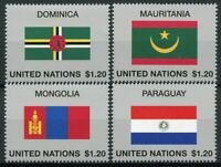 United Nations UN Flags Stamps 2020 MNH Flag Series 57 Mongolia Paraguay 4v Set