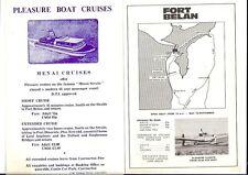 Fort Belan Menai Strait Caernarfon Pleasure Boat Cruises Flights handbills 1970s