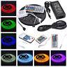 Black PCB 5M 300LEDs 5050 SMD RGB Waterproof LED Strip Light & Remote & Power