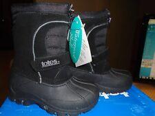 TOTE KIDS - BOYS  BLACK WATERPROOF SHELL - BOOTS - SIZE 8 - TRAVIS BLACK - NIB