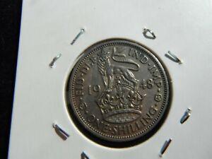 GEORGE VI ONE SHILLING COIN SCARCE 1948 RARE DATE-75-