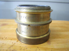 Antique Brass Hugo Meyer Goerlitz Aristostigmat F/7.5 No 6 300mm Barrel Lens
