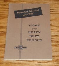 1948 Chevrolet Light & Heavy Duty Truck Owners Operators Manual 48 Chevy